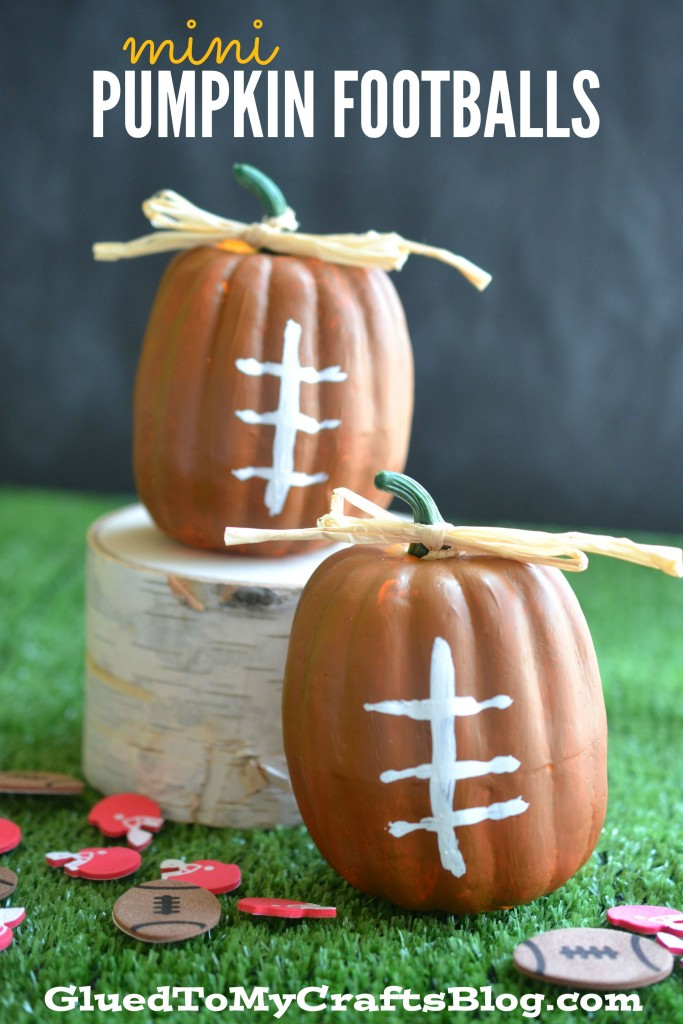 Mini Pumpkin Footballs