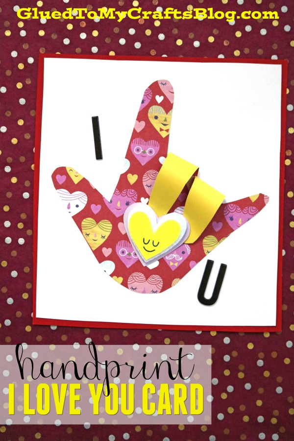 Paper Sign Language I Love You Card - Kid Craft