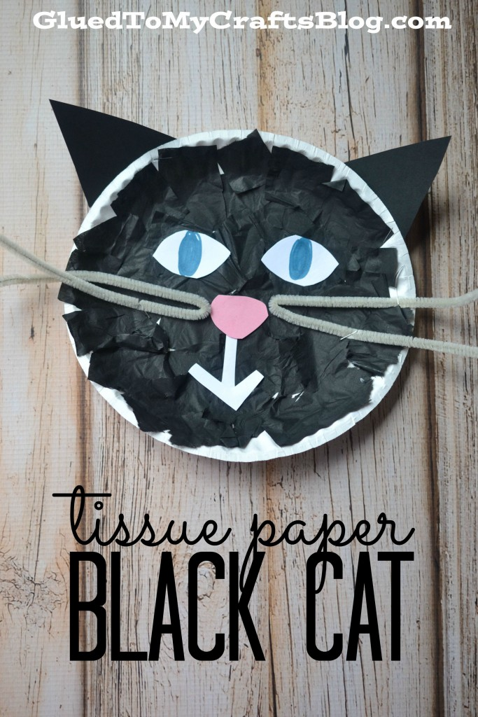 Tissue Paper Black Cat - Kid Craft
