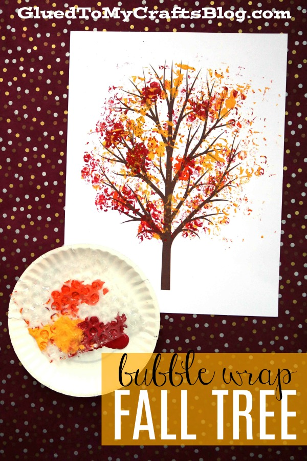 Bubble Wrap Print - Autumn Tree {w/free printable}