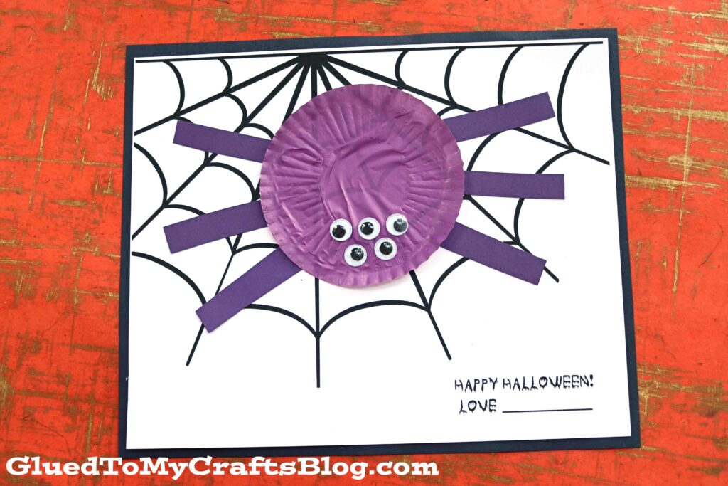 Cupcake Liner Spider - Art Project Idea For Halloween