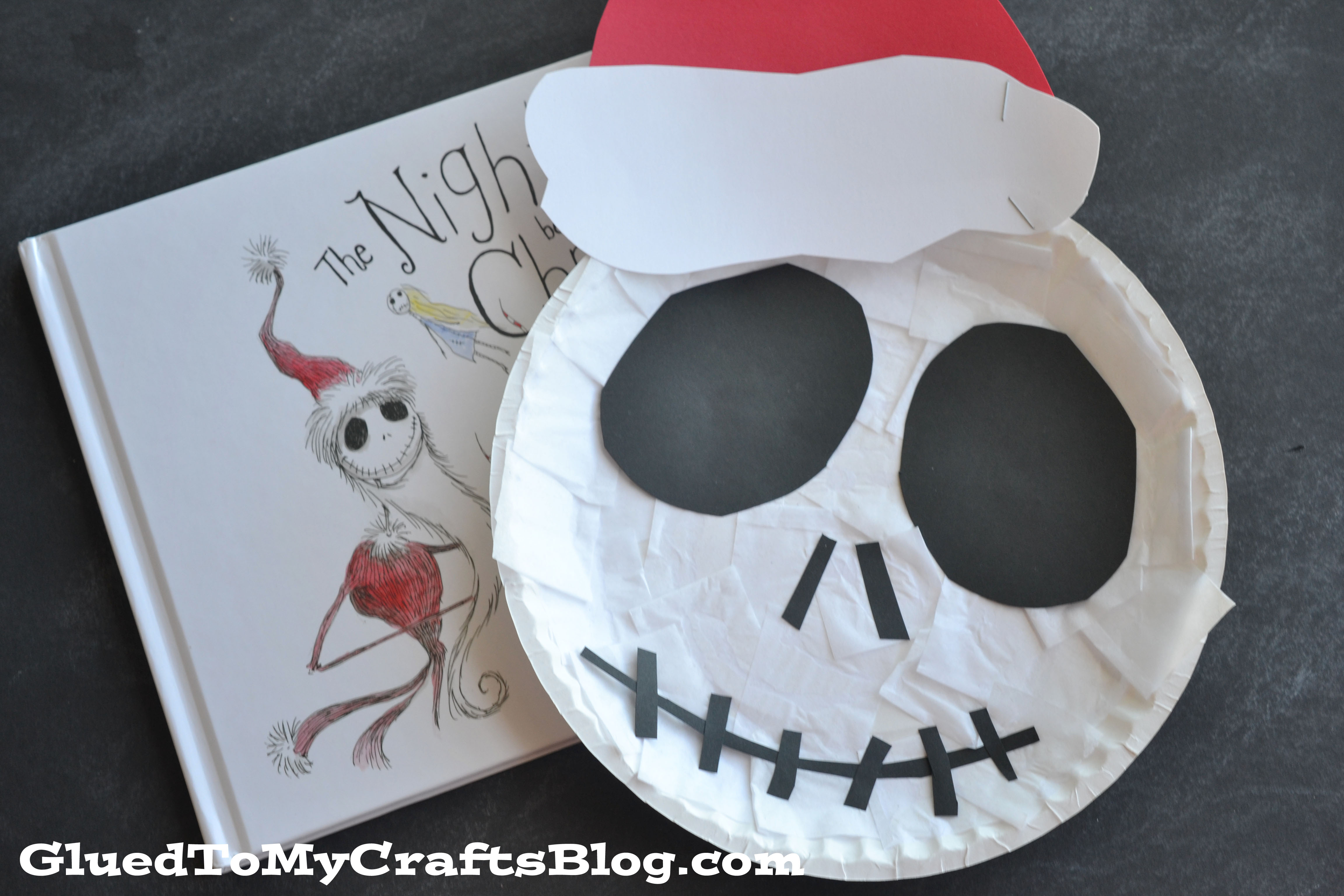 The nightmare before christmas paper plate jack kid craft jeuxipadfo Gallery