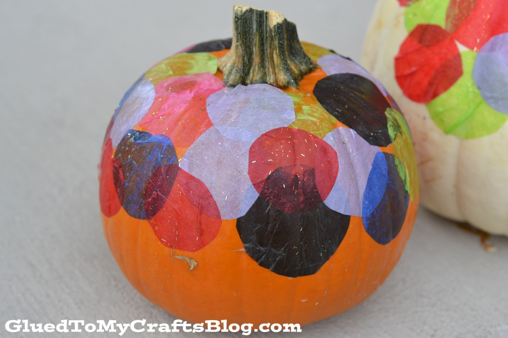 No Carve Mosaic Pumpkins - Kid Craft
