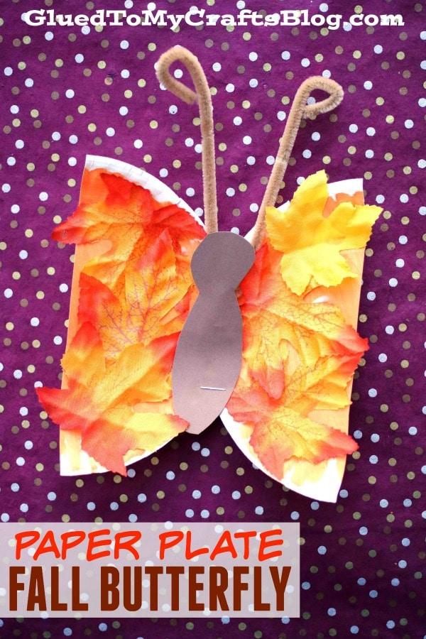Paper Plate Fall Butterflies - Kid Craft