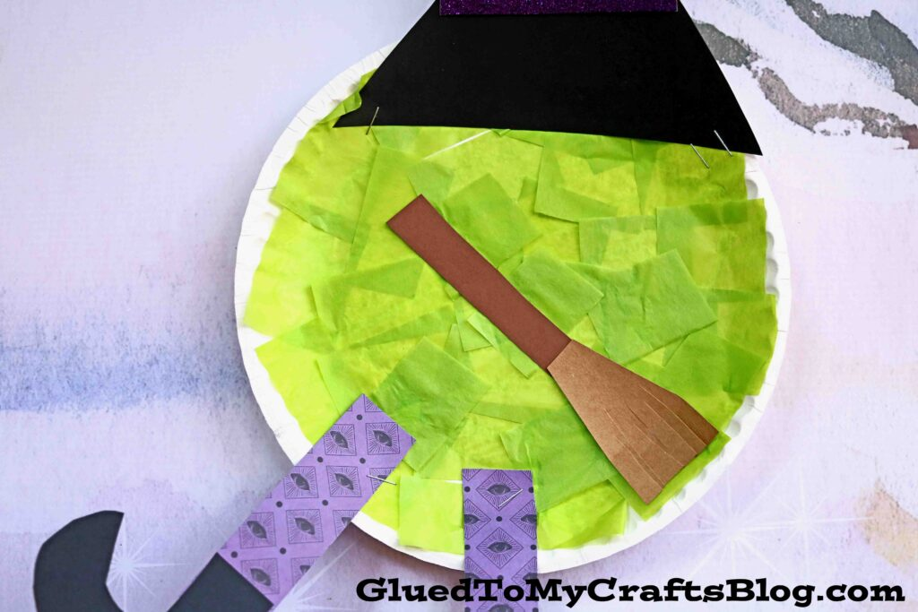 Paper Plate Melted Witch - Halloween Kid Craft