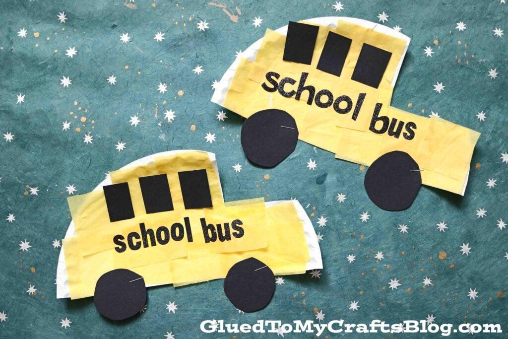 Paper Plate School Bus - Back To School Kid Craft