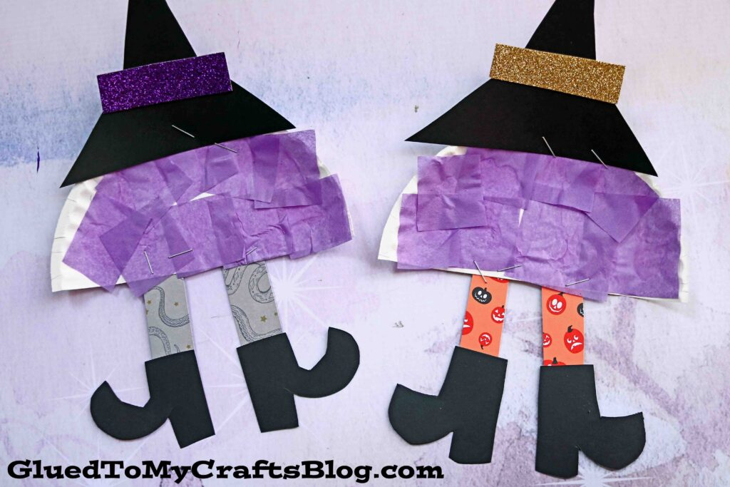 Paper Plate Witch Legs - Kid Craft