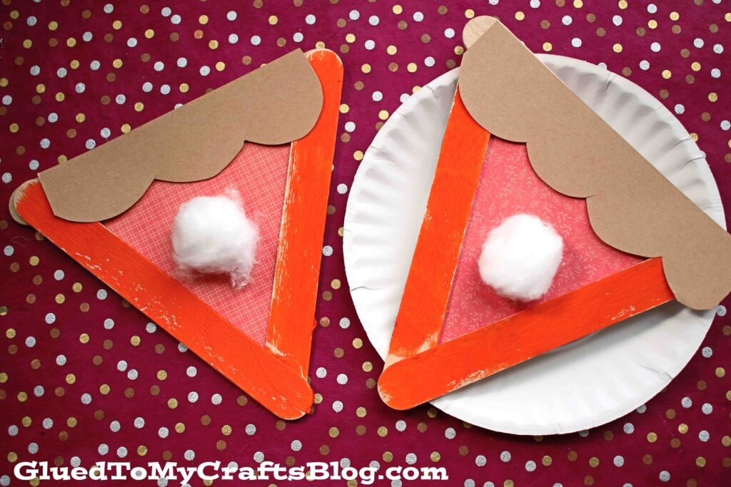 Popsicle Stick Pumpkin Pies - Kid Craft