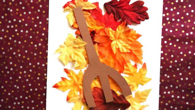 Raking Leaves - Paper Kid Craft