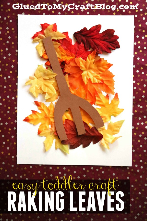 Raking Leaves - Paper Kid Craft
