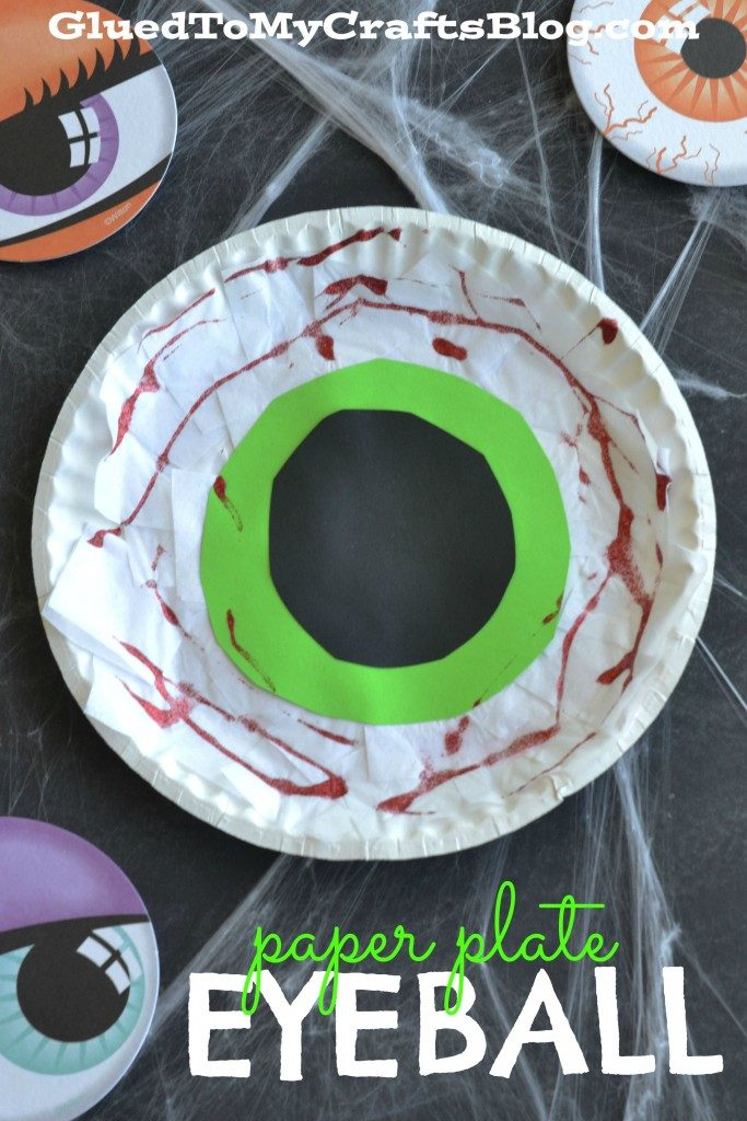 Paper Plate Eyeball - Kid Craft Idea