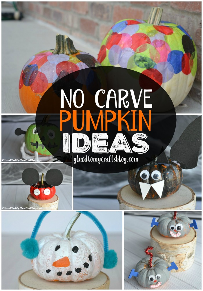 No Carve Pumpkin Ideas For The Front Porch - Craft Roundup For Halloween