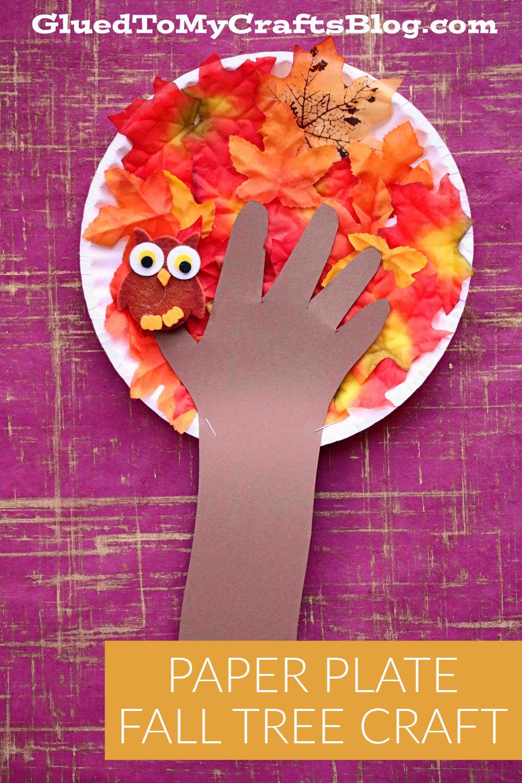 Paper Plate Fall Tree - Kid Craft Idea