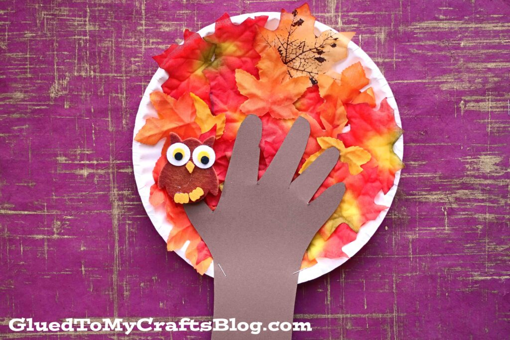 Paper Plate Fall Tree - Kid Craft