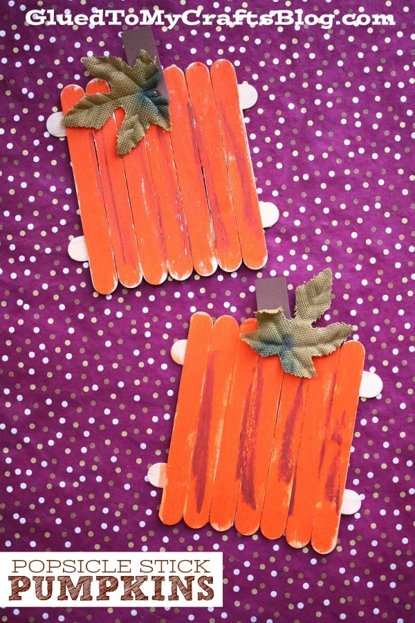 Popsicle Stick Pumpkins - Fall Inspired Kid Craft Idea