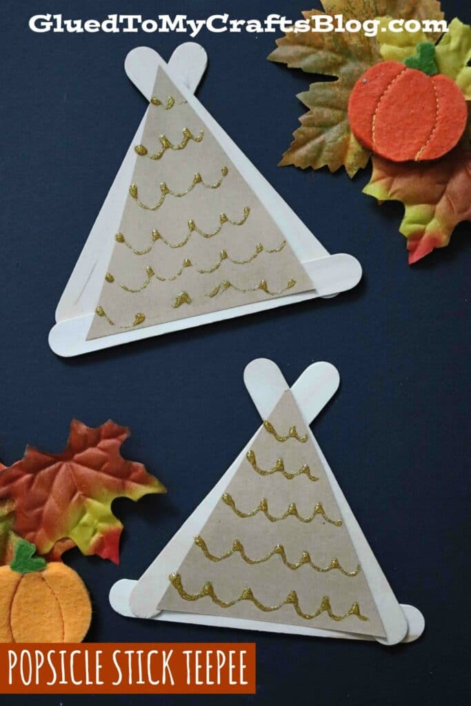 Popsicle Stick Teepees - Kid Craft Idea For Fall