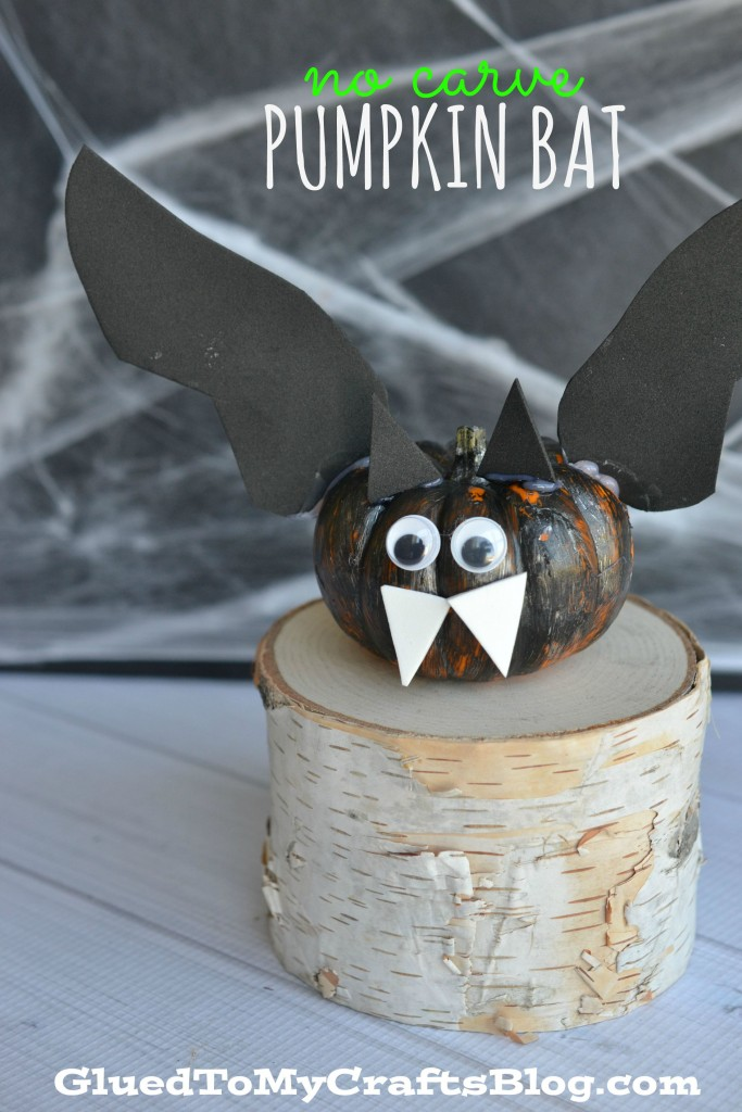 No Carve Pumpkin Bat - Kid Craft