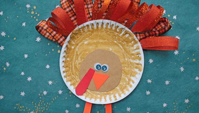 Paper Plate & Ribbon Turkey - Kid Craft