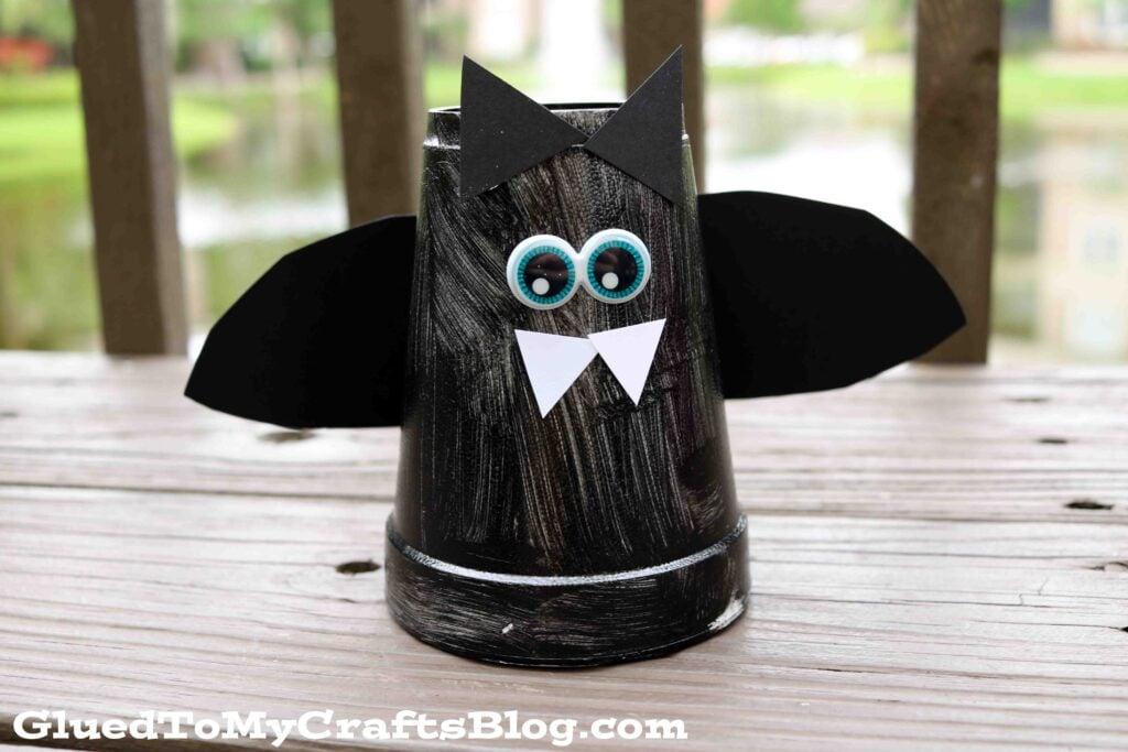 Styrofoam Cup Bat - Halloween Kid Craft Tutorial