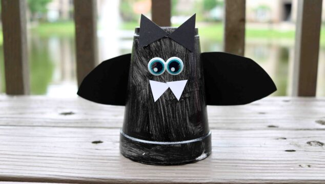 Styrofoam Cup Bat - Halloween Kid Craft Tutorial