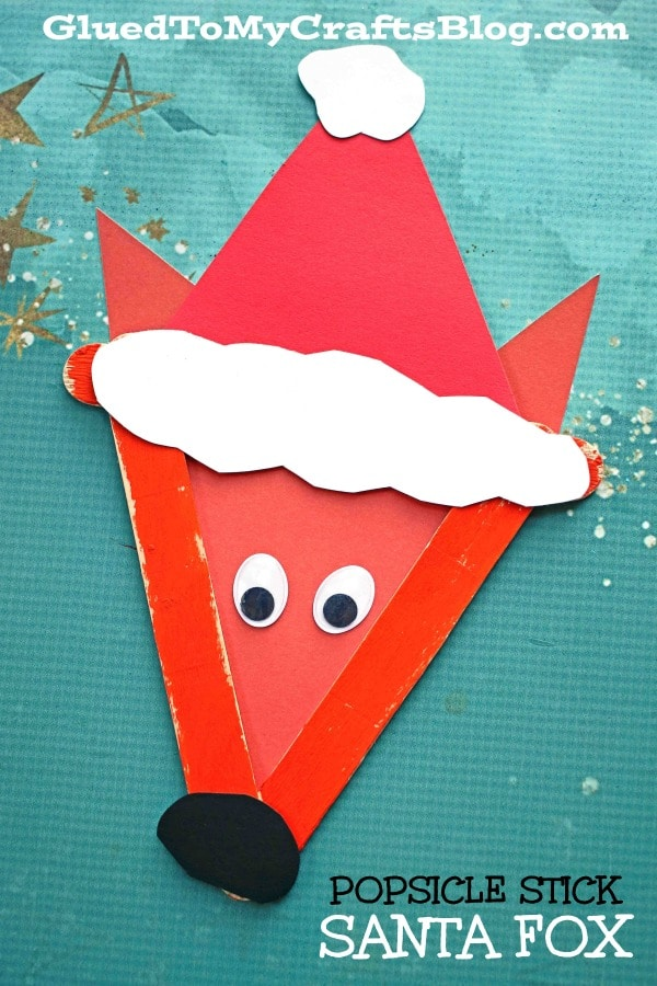 Popsicle Stick Santa Fox - Kid Craft