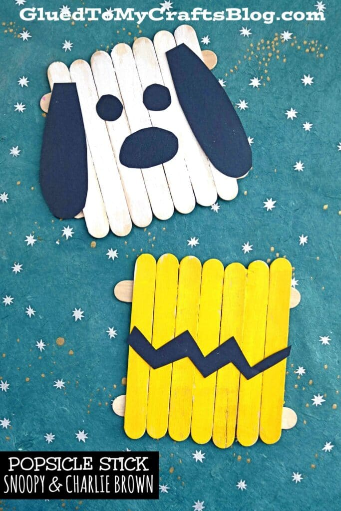 Popsicle Stick Charlie Brown & Snoopy - Kid Craft