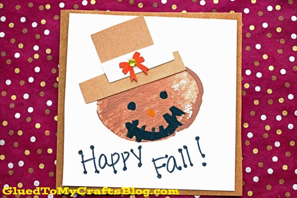 Potato Stamped Scarecrow Cards - Fall Kid Craft Idea