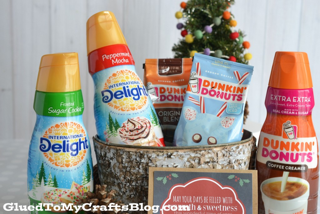 Coffee Creamer Holiday Gift Basket Idea + Free Card Printable
