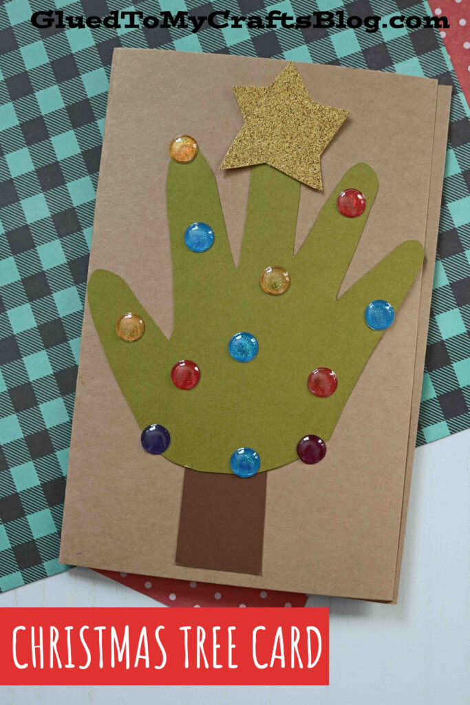 How To Make Handprint Christmas Tree Cards - Kid Craft Idea