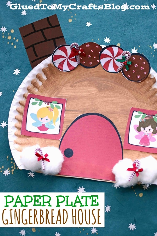Paper Plate Gingerbread House - Kid Craft