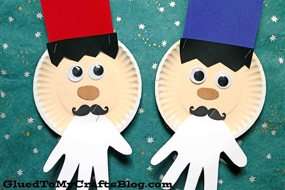 Paper Plate Nutcracker w/Handprint Beard - Kid Craft