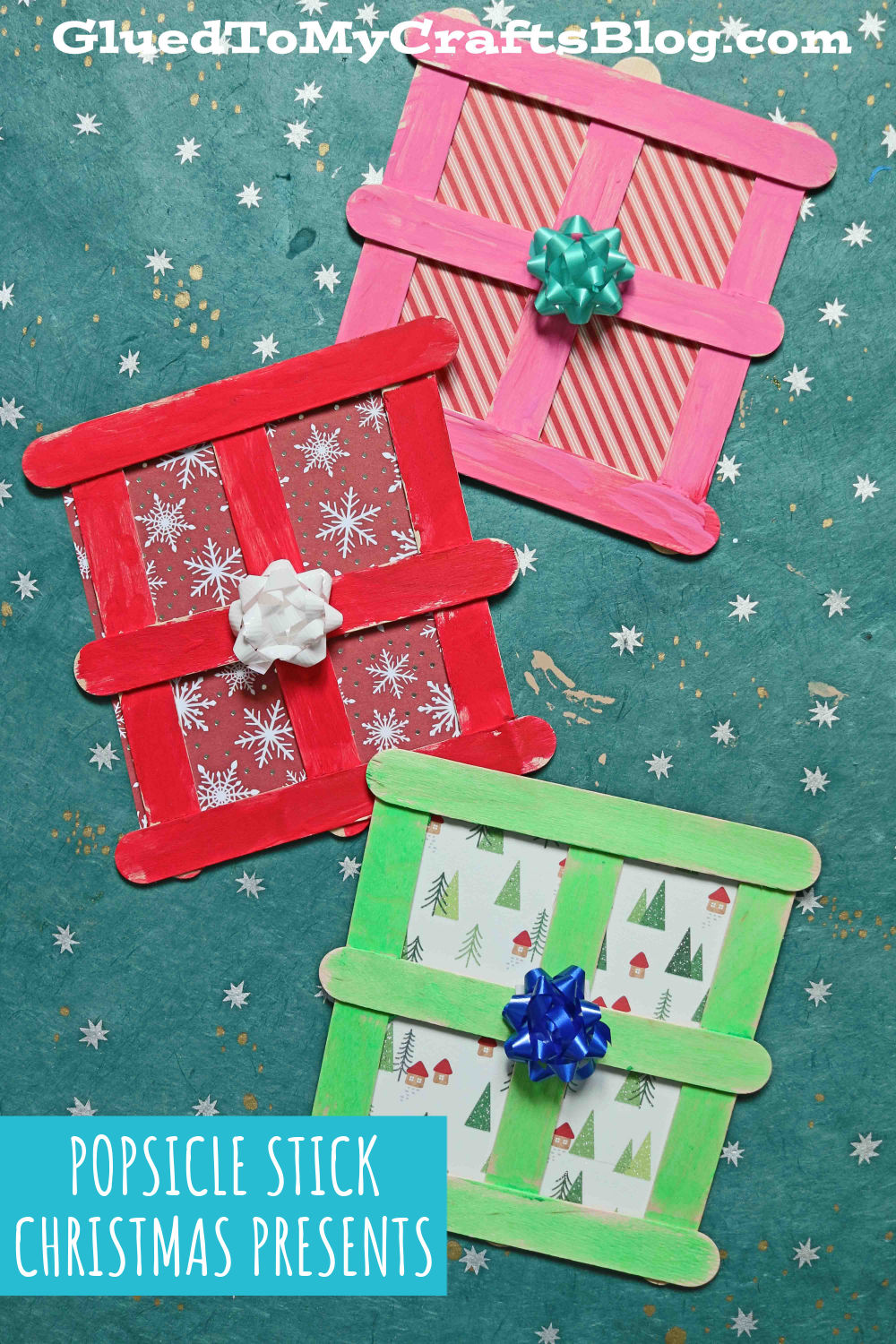 Popsicle Stick Christmas Presents - Kid Craft