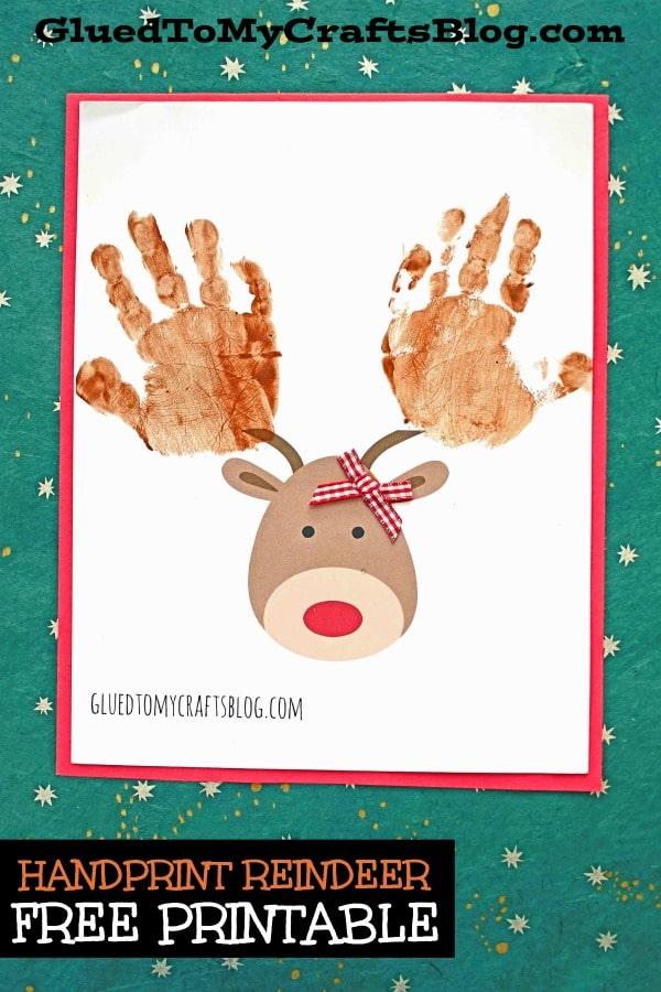 Handprint Reindeer w/free printable template