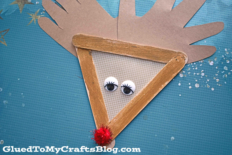 Popsicle Stick Reindeer - Kid Craft
