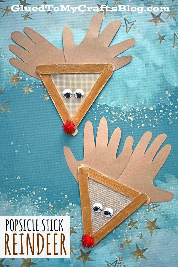 Popsicle Stick Reindeer - Christmas Kid Craft