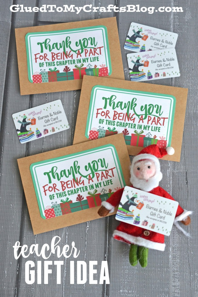A Chapter In Our Lives - Teacher Gift Idea w/free card printable