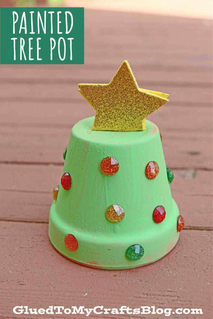 Decorative Pot Turned Christmas Tree Craft: