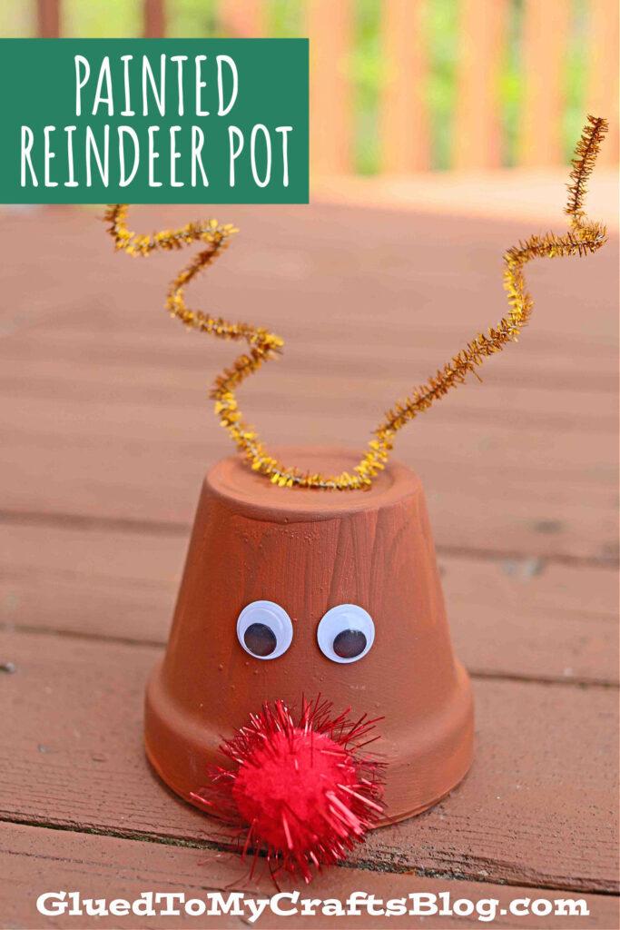 Decorative Pot Turned Reindeer Craft: