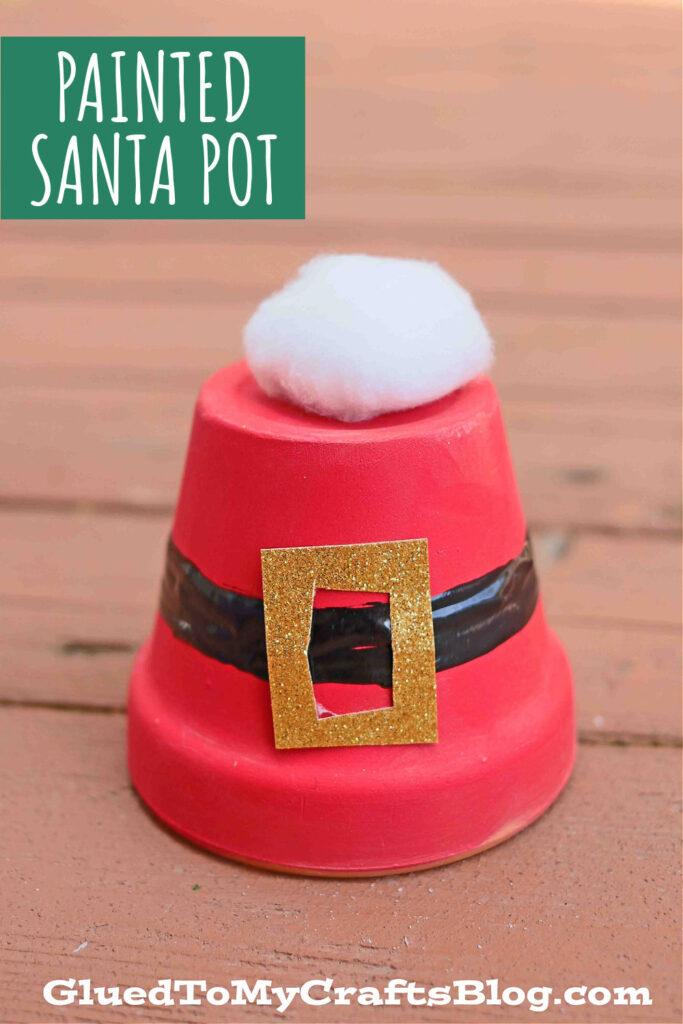 Decorative Pot Turned Santa Belly Craft: