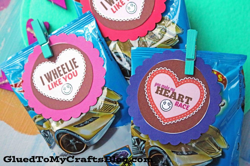 Race Car Valentine Gift Idea w/free printable