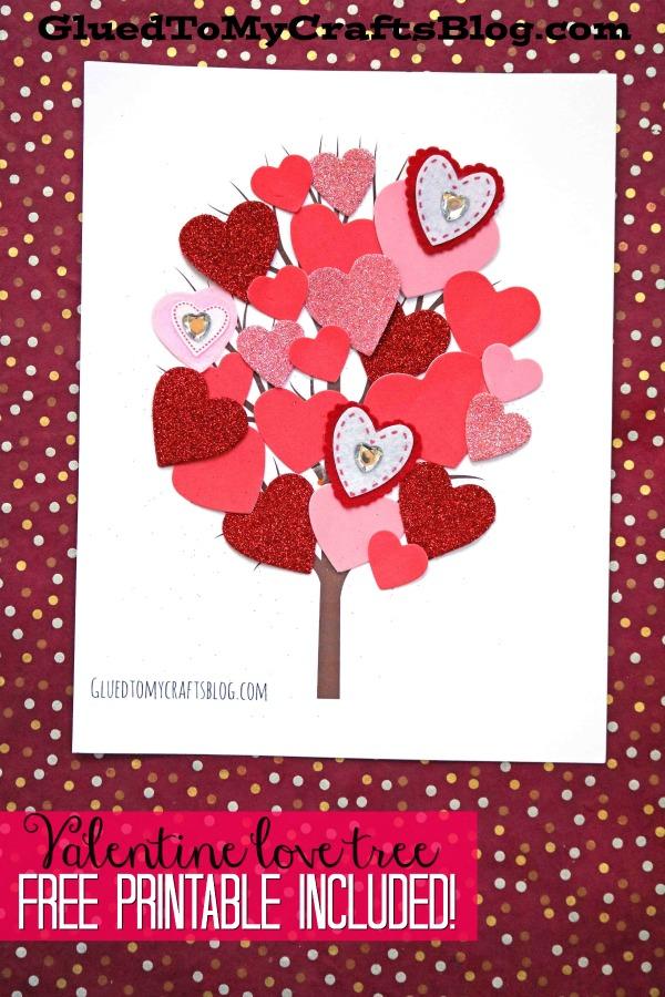 Paper Heart Love Tree - Valentine's Day Kid Craft Idea