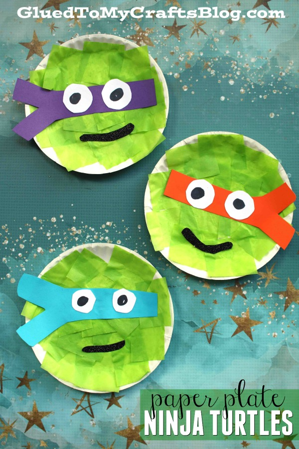 Paper Plate Ninja Turtles - Kid Craft