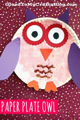 Tissue Paper & Paper Plate Owl - Kid Craft Tutorial