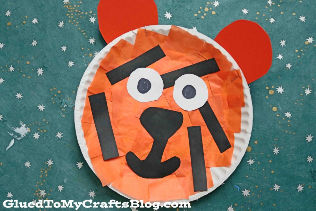 SUPER EASY Paper Plate Tiger - Kid Craft Idea