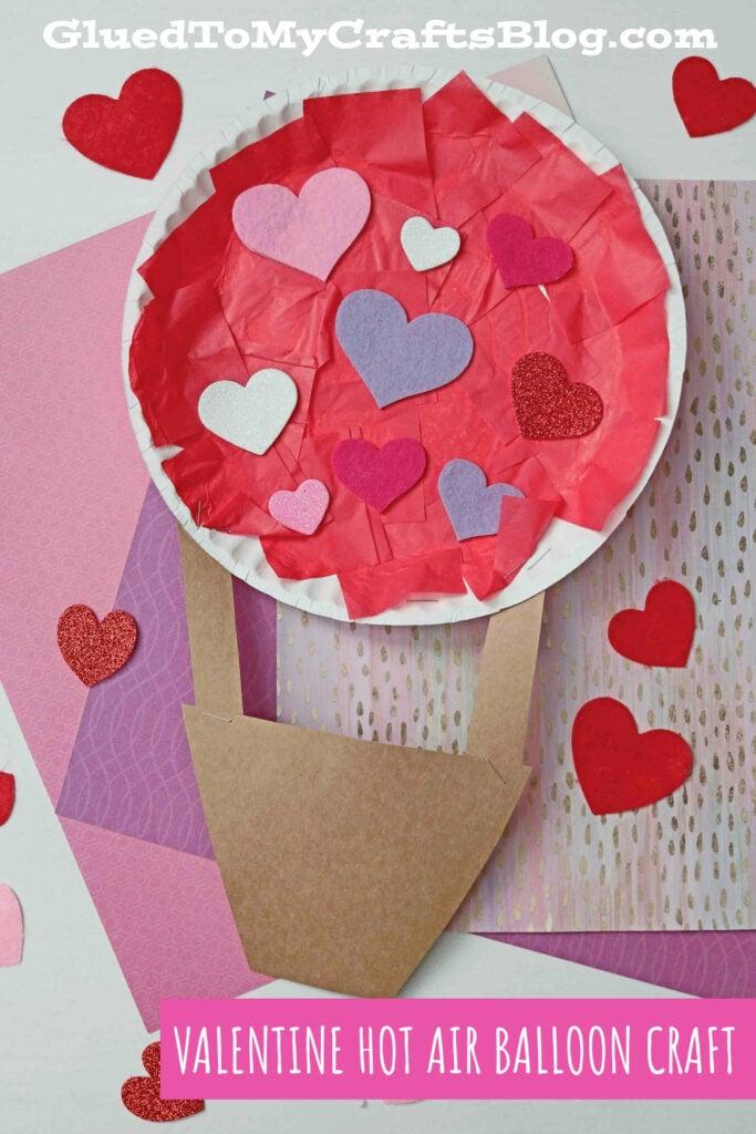 Paper Plate Valentine Hot Air Balloon - Kid Craft