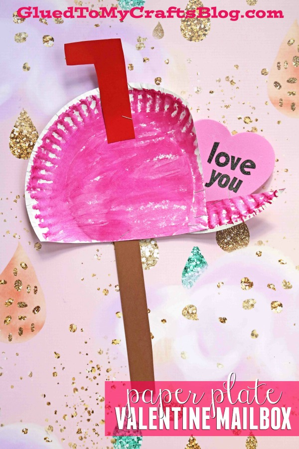 Paper Plate Valentine's Day Mailbox - Kid Craft