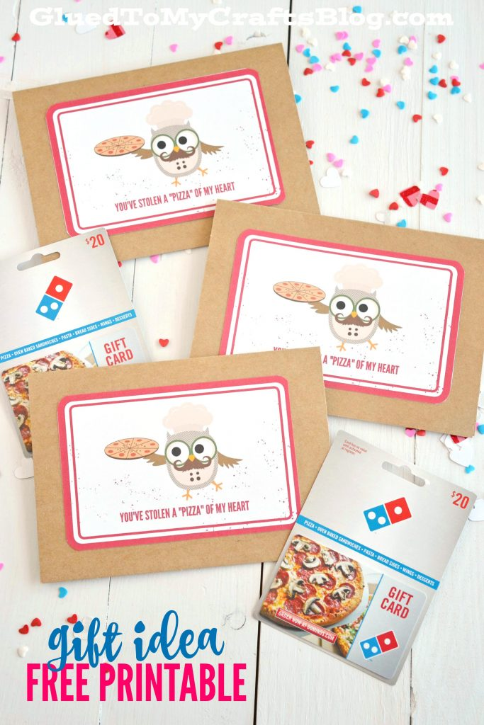 "You've Stolen A ""Pizza"" Of My Heart - Card Printable"