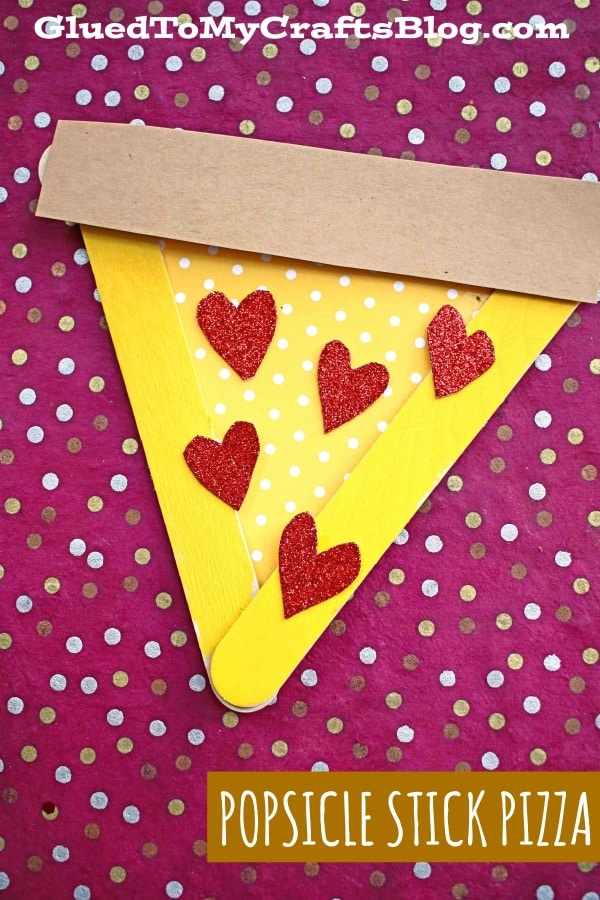 Popsicle Stick Pizza Slice - Kid Craft Idea