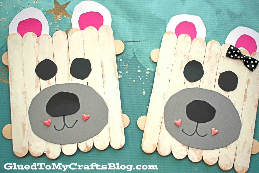 Popsicle Stick Polar Bear - Kid Craft