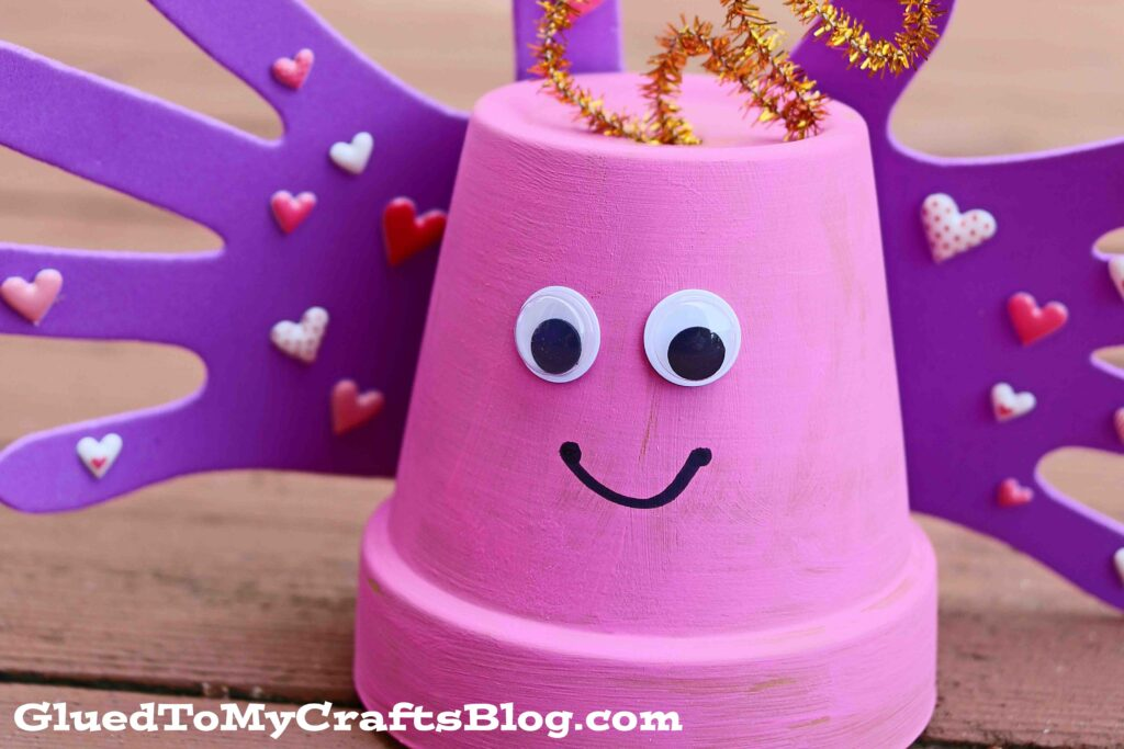 Terra Cotta Pot Love Bug - Kid Craft Idea For Valentine's Day